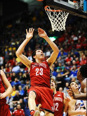 Tyler Flack, shown here at the Summit tournament in 2014, had eight  points and nine rebounds against Fort Wayne on Wednesday.
