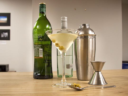 A Dirty Martini.