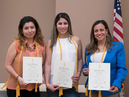 Four students were inducted into the Middlesex County