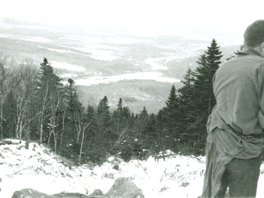 This 1940 view of the Skimeister Trail (named for the Skimeister trains bringing skiers from down country) shows what early skiers faced with rocks and stumps all over the trails. It wasn't until the 1950s when trails started to be smoothed with bulldozers and a liberal use of dynamite. Today this is the Lord Trail and is fully groomed virtually every night for the entire season.