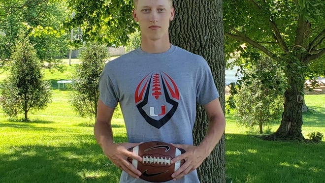 Sam Clark, a recent United High School grad, will continue his football career in Wisconsin at Ripon.
