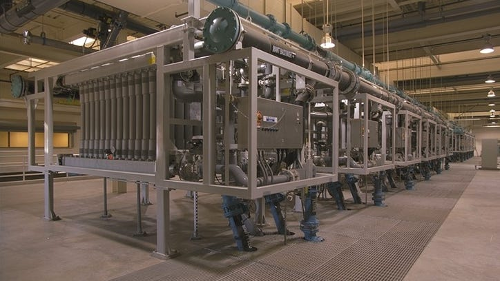 Scottsdale's Ultra Filtration membrane system at the Advanced Water Treatment Facility.