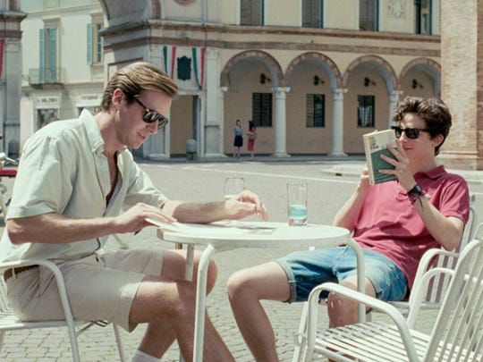 "A young man named Elio (Timothée Chalamet) living in Italy in the '80s, meets Oliver (Armie Hammer), an academic who has come to stay at his parents' villa, in ""Call Me By Your Name."""