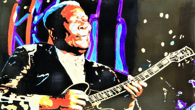 """B.B. King"" by Tom McLeod."