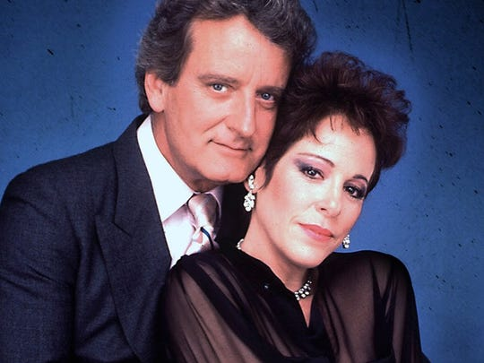 Publicity still of Nicolas Coster and Louise Sorel from the  NBC daytime soap Santa Barbara.