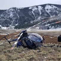 Leaping elk crashes low-flying research helicopter