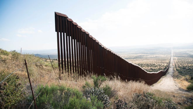 President Donald Trump's proposed border wall would end fencing gaps like this one near Jacumba, California.