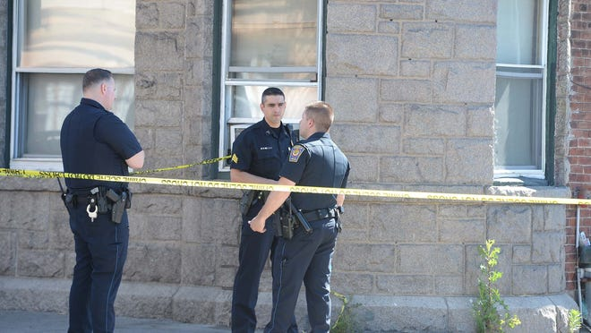 A man died after falling from a window at 79-83 North Main St., an apartment building in Brockton, Thursday, June 18, 2020.