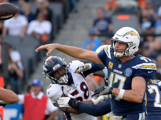 Los Angeles Chargers quarterback Philip Rivers.