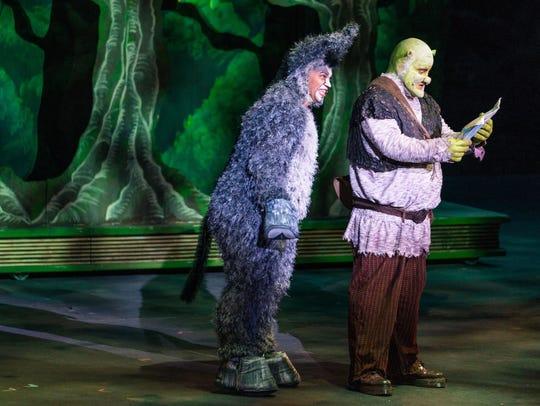 André Jordan plays Donkey and Steve Judkins plays Shrek