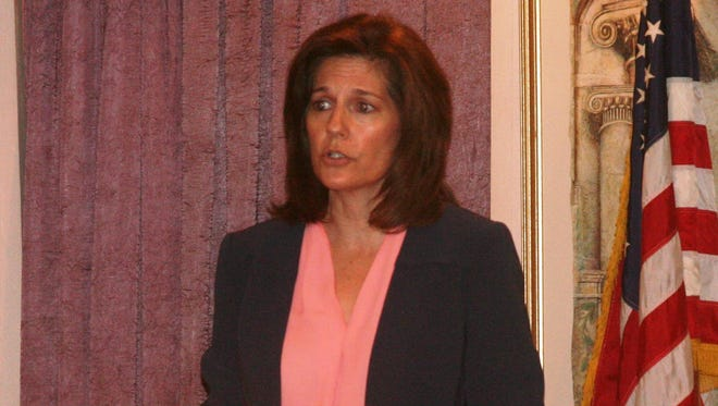 Former Nevada Attorney General Catherine Cortez Masto, now a candidate for U.S. Senate, was the guest speaker at Saturday's Lyon County Democrats' Jefferson-Jackson Day Dinner in Yerington.