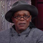 The actor appeared on 'The Late Show' last night to promote 'The Hateful Eight.'