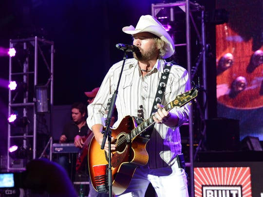 2013: Toby Keith at the Iowa State Fair Grandstand.
