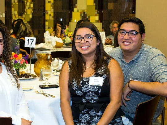 Jonathan Cantu, right, at The Immokalee Foundation's 2016 graduation ceremony with Rolando Ramirez, Berenice Ramirez and Miranda Herrera.