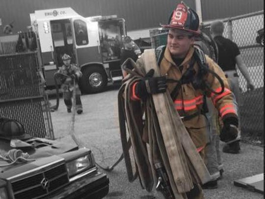 Dover Township Firefighter Chase Hartlaub died Saturday,