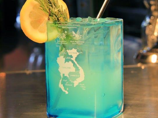 Salut Kitchen Bar's lavender lemon fizz.