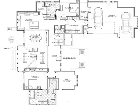 With a private bathroom for every bedroom, this layout