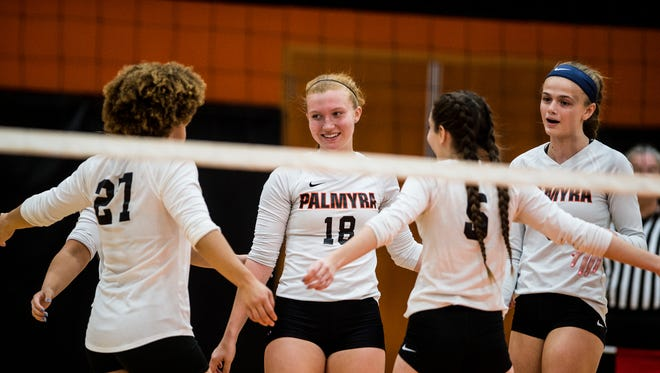 The Palmyra girls volleyball team had a lot to celebrate this fall after capturing division, conference and district championships.