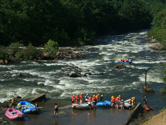 The Ocoee River is popular for whitewater rafting and