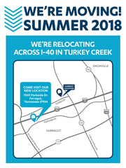 This screenshot, taken from At Home's website, announces the retailer is moving its East Tennessee location less than 3 miles down the road to Turkey Creek in Farragut.