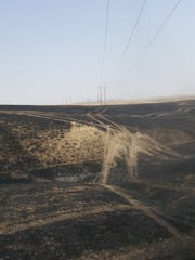 A fire off of Rainbow Dam Road burned 40 acres.Firefighters