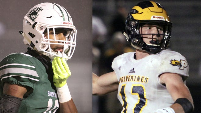 Deion Colzie, left, and Brock Vandagriff, right, were set to play in the 2021 U.S. Army All-American Bowl until it was announced Tuesday that the recruiting event had been canceled.