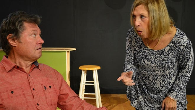 """Jay Terzis as Walter and  Mary Bryan as Chi Chi are two of the residents whose lives are explored in """"Flaming Court, """" opening Jan. 3 at Marco Players Theatre."""