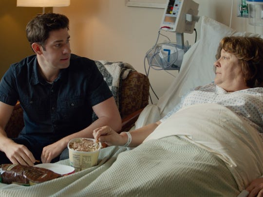 """Son (John Krasinski) and Mother (Margo Martindale) in """"The Hollars."""" Krasinksi is one of the actors slated for a movie about the 1967 Detroit riots, which will be filmed partly in Mason next month."""