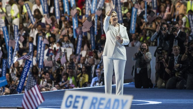 Democratic presidential nominee Hillary Clinton is the first woman to lead a major-party ticket in the United States.