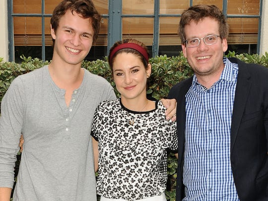 Actor Ansel Elgort, actress Shailene Woodley and author