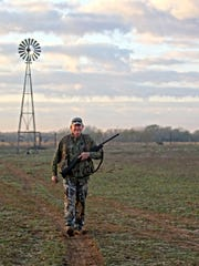 Fields surrounding Beltrando Soliz's Southern Star Dove Ranch are clean pastures, where downed doves are easy to find.