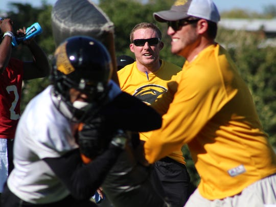 Scotty Walden is in his first season as inside receivers coach at Southern Miss.