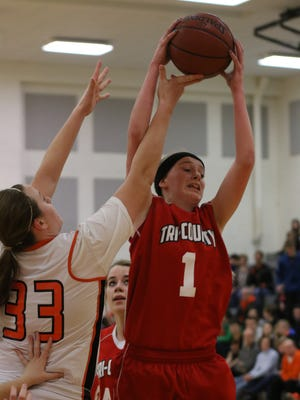 Amber Baehman was named the Central Wisconsin Conference-10  girls basketball player of the year after helping the Penguins to the confernece title.