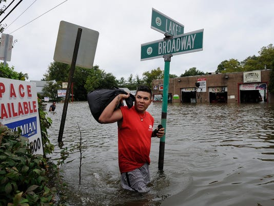 Hurricane Irene in Westwood, Hillsdale Emerson