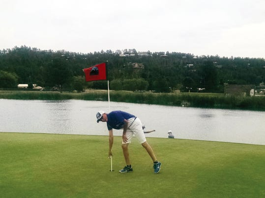 Ruidoso High School junior Garrett Eggleston earns hole-in-one.