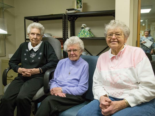 From left, Betty Harris, Gladys Diemond and Alice Holtkamp. All have worked at the shop for more than a decade.