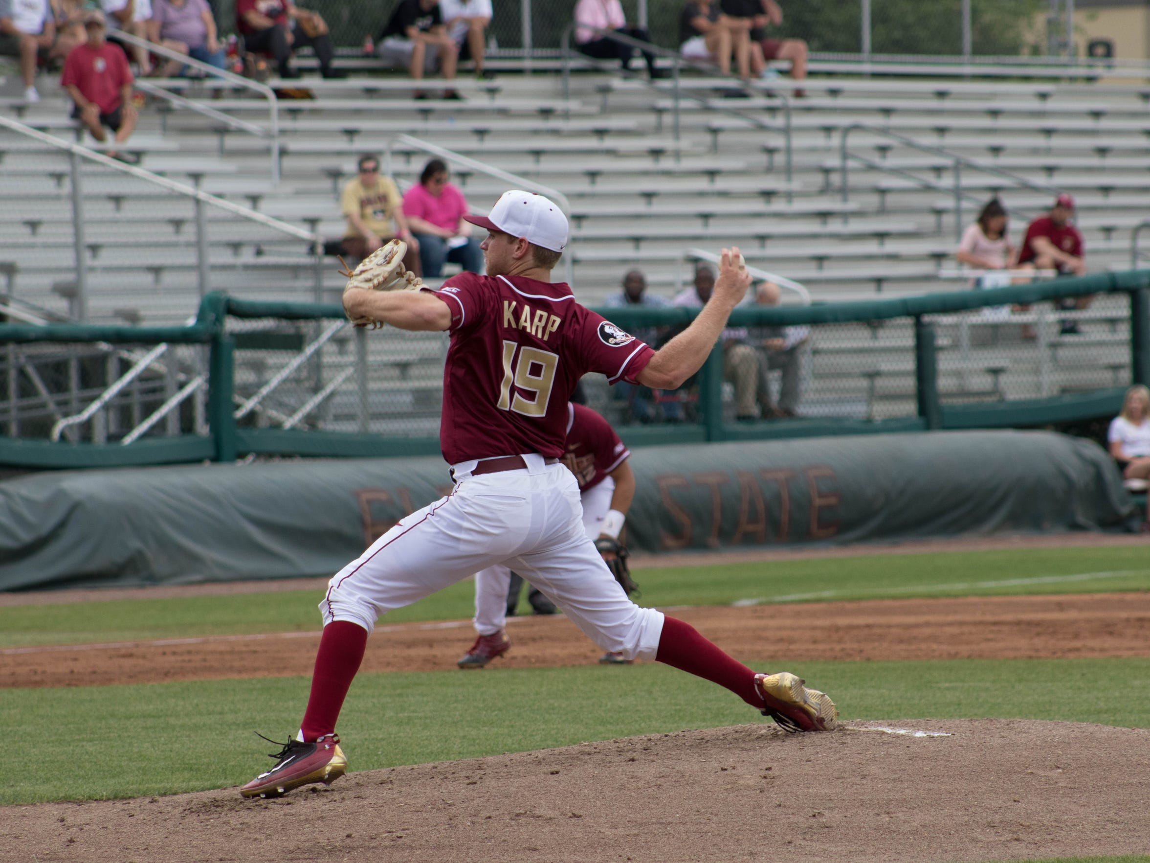 Karp threw 66 pitches in his first career start against Stetson.