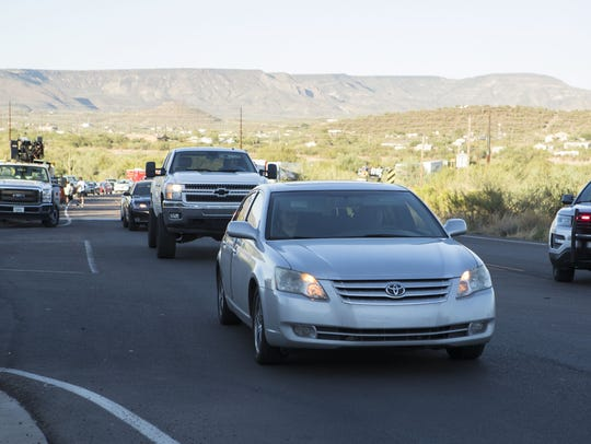 Traffic after the northbound Interstate 17 is closed