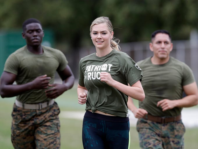 Model and actress Kate Upton takes part in a workout