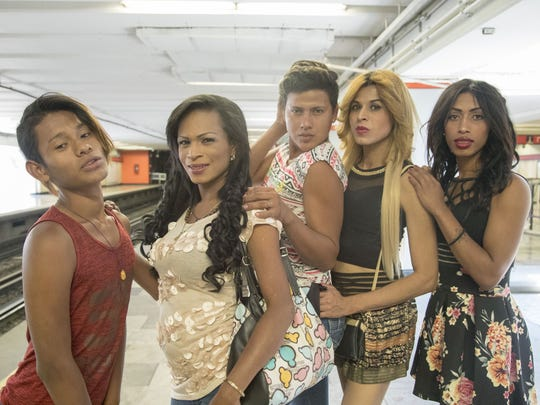 Transgender immigrants from Central America came in a caravan bus to Mexico City and walk with other migrants to visit Mexican senators. Some of them may stay in Mexico to ask for political asylum.