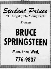 An ad in the Asbury Park Press for Bruce Springsteen's