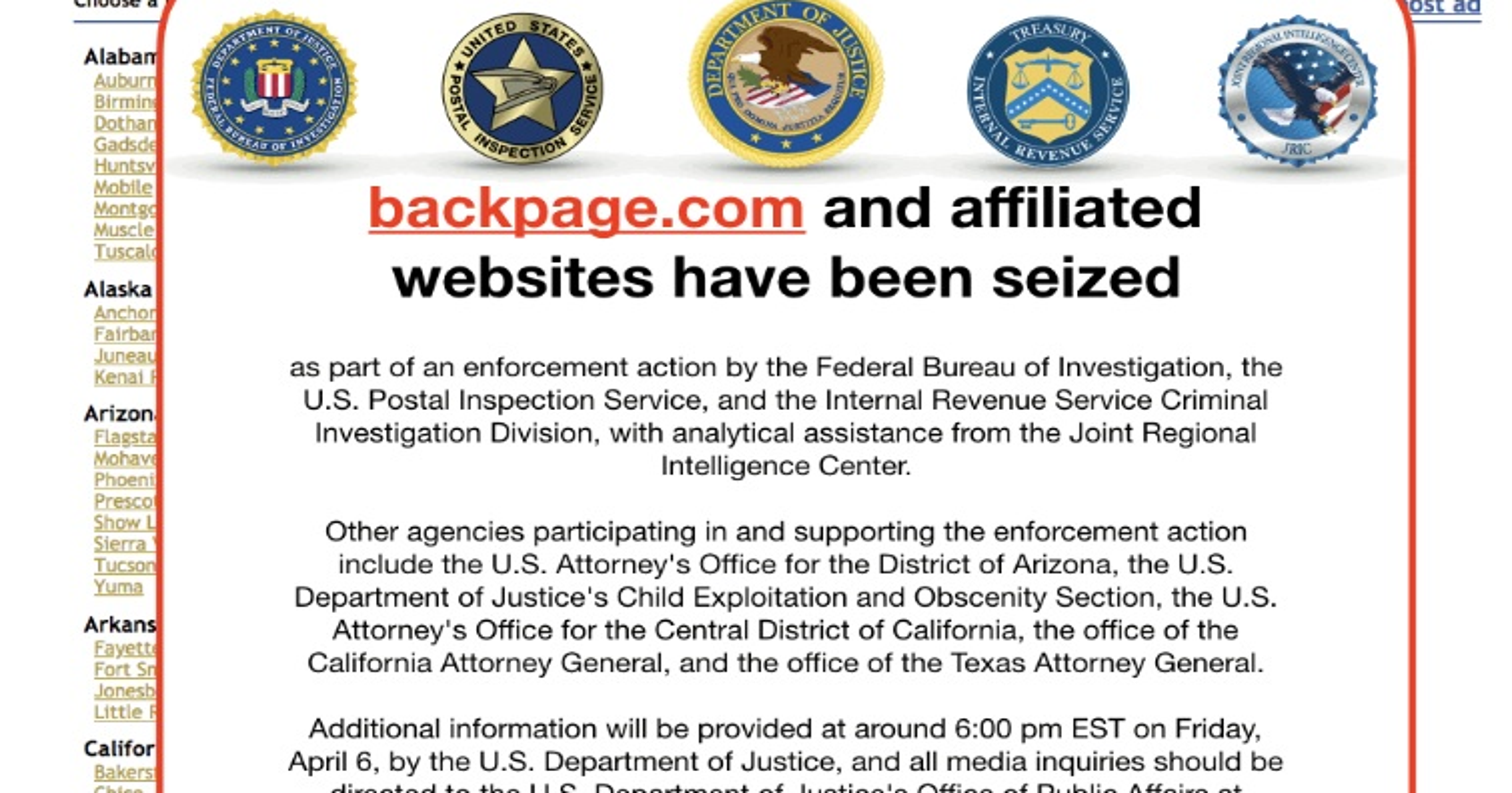 Trump signs law aimed at sex advertising on websites like Backpage