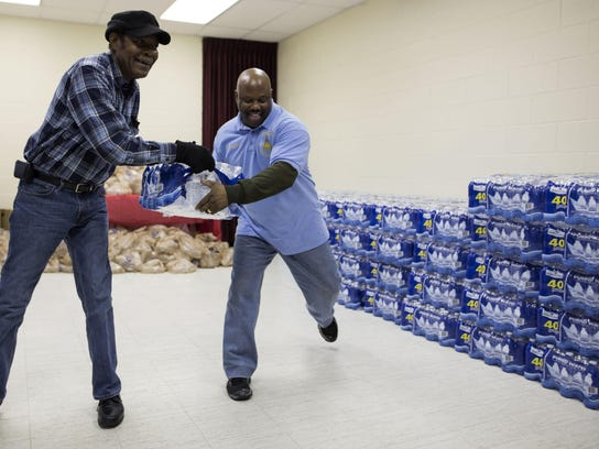 First Trinity Missionary Baptist water event