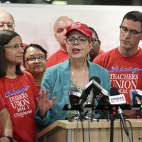 Chicago Teachers Union President Karen Lewis announces that a tentative contract agreement was reached with Chicago Public Schools. It's a bad deal for charter schools.