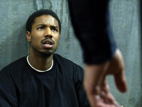 "Michael B. Jordan portrays Oscar Grant in ""Fruitvale Station."""