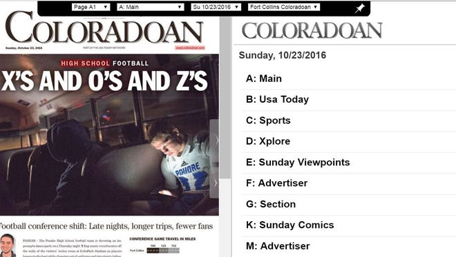 The Fort Collins Coloradoan e-edition.