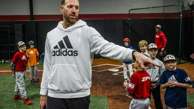 Zach McAllister, a pitcher in the Dodgers' system, works his annual baseball camp in January at The Yard in Peoria. McAllister was hopeful of coming back from shoulder surgery this season, but broke his arm in April and probably won't return to the mound until 2021.