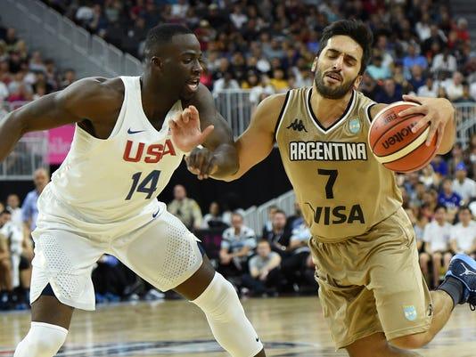 Argentina v United States - USA Basketball Showcase