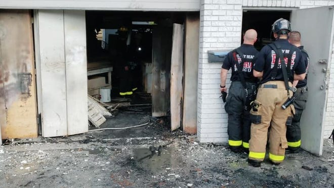 Delray Beach Fire Rescue was called to a fire at a cabinet shop on Saturday, Feb. 22, 2020.