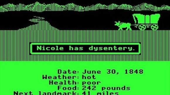 """""""The Oregon Trail"""" was one of the first educational computer games."""